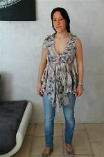tunic tunique soie coton HIGH USE taille 38  NEUF ÉTIQUETTE ** TOP LUXE **