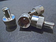Tyre Valve Dust Caps Covers Stainless Steel High Performance With Seal SET OF 4
