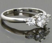 Wedding Swarovski Pure Brilliance Zirconia Three Stone Ring Platinum / Sterling