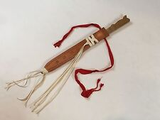 Latin American Handcrafted Kids Toy Wooden Sword w Genuine Leather Sheath