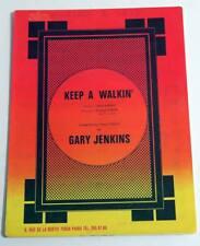 Partition vintage sheet music GARY JENKINS : Keep a Walkin' * 70's rare !