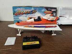 Vintage Remote Controlled Boat - Gamma Ray - Radio Shack in Box Works Great