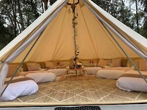 Bell Tent 7M Canvas Glamping Tent Camping Waterproof 4-Season Yurts 12-14Persons