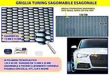 Griglia Tuning Nera Rete paraurti anteriore radiatore plastica sportiva per 1 in