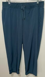 Champion Active Women's Lightweight Drawstring Size Large Blue stretchy