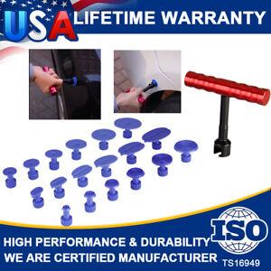 18X Tabs & T-Bar Hammer Puller Lifter Paintless Dent Pit Repair Tool Accessories