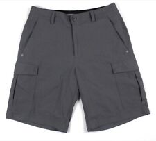 mens gray UNDER ARMOUR cargo golf shorts 1253406 flat front sport 30 x 9.5