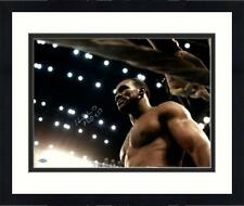 Framed Evander Holyfield Signed Glaring in Ring 16x20 Photograph