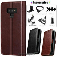 For Samsung Galaxy Note 9 Case Leather Wallet Flip Stand Phone Cover / Accessory