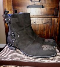 Mark Nason Dragon Rock Lives Suede Leather Ankle Boots Size 10 Made in Italy