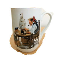 "Norman Rockwell Museum Collection ""For A Good Boy"" Porcelain Coffee Mug 1982"