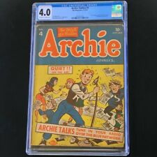 Archie Comics #4 (MLJ 1943) 💥 CGC 4.0 OW-W 💥 Only 38 in Census! Golden Age