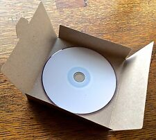 25 No Glue Brown Recycled Kraft Card CD DVD Sleeve/Wallet/Cover Unbranded/Blank