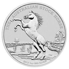 1 $Dólar STOCK caballo caballo Australia 2013 1 oz onza plata