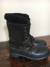 Sorel Caribou Boots Men's US Size 7 Dark Brown WOOL LINING INSERT