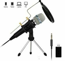 Microphone Condenser Recording Mic For Computer Laptop Mac Windows Studio iPhone