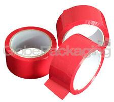 """1 Rollo De Rojo De Color embalaje paquete Cinta 50mmx66m 2 """""""