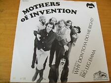 "MOTHERS OF INVENTION (FRANK ZAPPA) BIG LEG EMMA 7"" MINT-  RDS 2012"