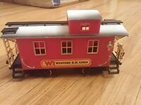 BRIGHT WESTERN R.R. LINES RED CABOOSE G SCALE