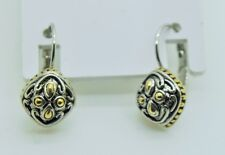 Dangle fashion french clip earrings 88 Simply unique elegant style two tone
