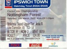 Ticket - Ipswich Town v Nottingham Forest 12.03.05