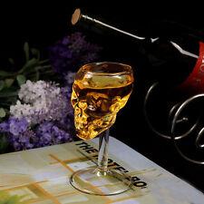 Bones Warrior Skull Designed High Wine Glass Goblet Cup Barware Drinkware
