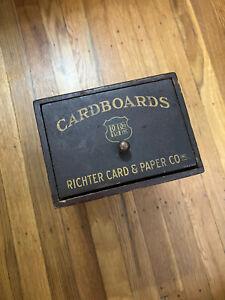 Antique Richter Card & Paper Co Cardboards Drawer Cigar Shop Tobacco Advertising