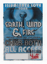 EARTH WIND & FIRE AUTHENTIC 2005 USED TOUR CONCERT SATIN BACKSTAGE PASS PEELED