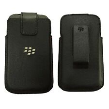 For Blackberry Classic Q20  PU Leather Swivel Holster Pouch Sleeve Case Black