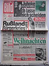 Bild Zeitung - 22.12.1990, Harald Juhnke, Marina Krauser, Andrea Jonasson, Diana