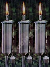 3x Gartenfackel Öllampe 120 cm Garten-Fackel Ölfackel Öl-Lampe Gartenlaterne NEU