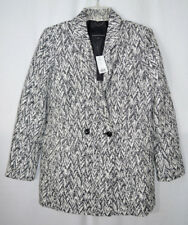 Banana Republic Jacket Coat Black/White Chevron Jacquard Lined Women's Small NWT