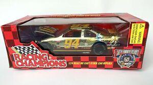 Racing Champions-50th Aniv-Bill Elliott-#94-Taurus-24K Gold-NIB-1:24-09050