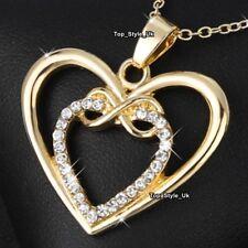 BLACK FRIDAY DEALS Women Mum Girls Wife Mother Infinity Gold Heart Necklace K6