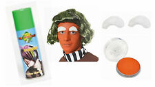 UMPA LUMPA CHOCOLATE FACTORY GREEN HAIRSPRAY WHITE EYEBROWS ORANGE FACE PAINT