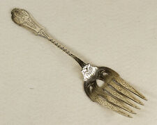 Antique Coin Silver Serving Fork