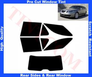 Saab 9-5 Sport Est5D 2005-10 Pre-Cut Window Tint 5%-50% Rear Window & Rear Sides