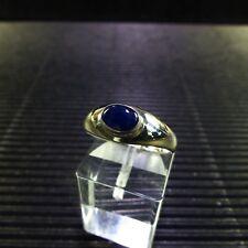 Ring, Gr. 57 mit einem Saphir Cabochon aus Sri Lanka