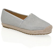 WOMENS ESPADRILLES PUMPS LADIES HOLIDAY CASUAL SLIP ON SUMMER PUMPS SHOES SIZE