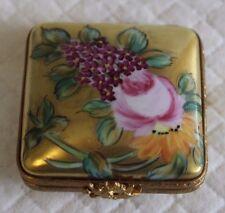 LIMOGES dipinto a mano artoria Ciondolo o Patch BOX-Pretty Gilded Cuscino