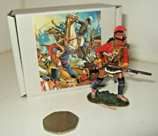 King & Country BR42 American Revolution Indian with Rifle Advances in 1:30 scale