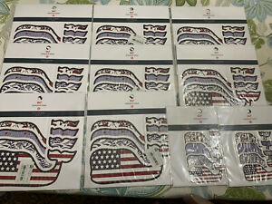 Vineyard Vines Whale Stickers For Target Four Vinyl Patriotic- 10 Packs