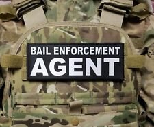 BAIL ENFORCEMENT AGENT 3X8 Patch for Plate Carrier with Hook Backing Bondsman