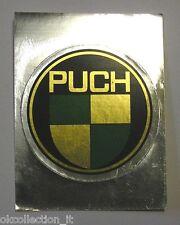 VECCHIO ADESIVO MOTO / Old Original  Sticker Vintage PUCH (cm 7x10) argento