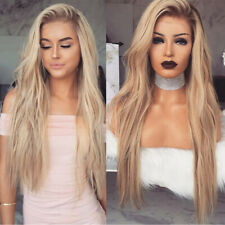 Stylish Women Blonde Long Wig Heat Resistant Party Hair Wavy Curly Sexy Wigs
