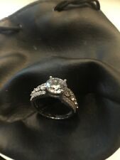 Diamonique Sterling Silver Diamond Ring Size N BNIB rrp £55