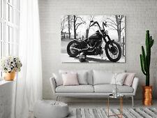 Leinwandbild, 100x70cm, Harley Davidson, Motorrad, Wandbild, 16isa