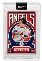 TOPPS PROJECT 2020 CARD 187-2011-MIKE TROUT- BY GROTESK WITH BOX-L.A. ANGELS