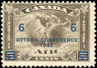 1932 Canada Mint H F Scott #C4 (C2 Surcharged) Air Mail Issue Stamp
