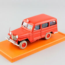 1:43 Tintin Jeep Willys Overland Station Wagon action figure die cast model cars